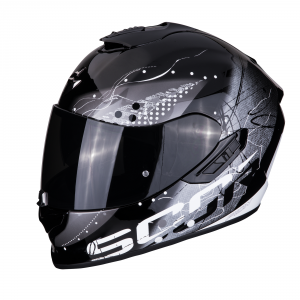 CASCO MOTO INTEGRALE SCORPION EXO-1400 AIR CLASSY BLACK SILVER