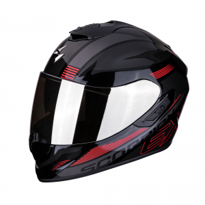 CASCO MOTO INTEGRALE SCORPION EXO-1400 AIR FREE METAL BLACK RED