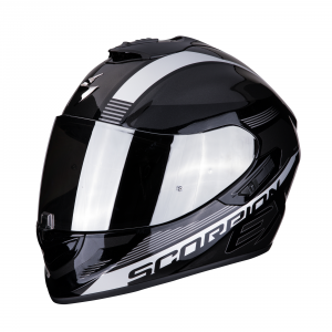 CASCO MOTO INTEGRALE SCORPION EXO-1400 AIR FREE METAL BLACK SILVER