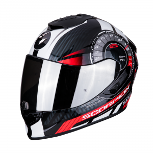 CASCO MOTO INTEGRALE SCORPION EXO-1400 AIR TORQUE BLACK RED