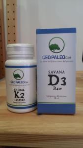 SCORTA 2 MESI: 1 Primal K2 + 2 Savana D3 Raw