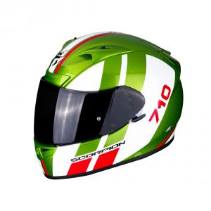 CASCO MOTO INTEGRALE SCORPION EXO-710 AIR GT GREEN WHITE RED