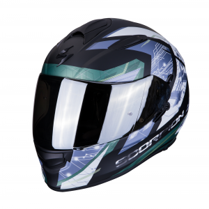 CASCO MOTO INTEGRALE SCORPION EXO-510 AIR CLARUS MATT BLACK SILVER