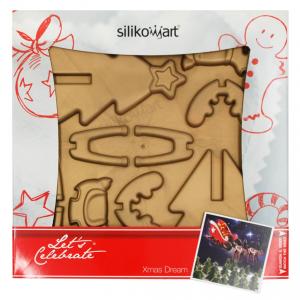 Set stampo in silicone per slitta con renna natalizia Silikomart