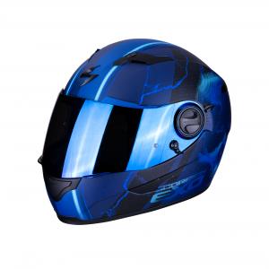 CASCO MOTO INTEGRALE SCORPION EXO-490 AIR DAR MATT BLUE