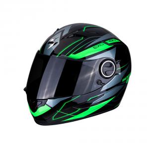 CASCO MOTO INTEGRALE SCORPION EXO-490 AIR NOVA BLACK GREEN