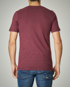 T-shirt bordeaux con logo