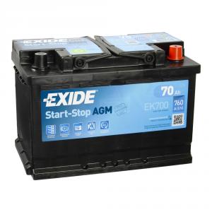 Batteria EXIDE 70Ah Dx - EK700