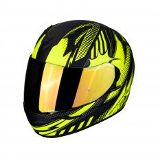 CASCO MOTO INTEGRALE SCORPION EXO-390 POP MATT BLACK NEON YELLOW