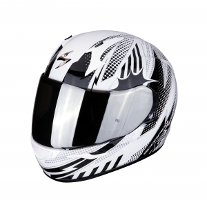 CASCO MOTO INTEGRALE SCORPION EXO-390 POP WHITE BLACK
