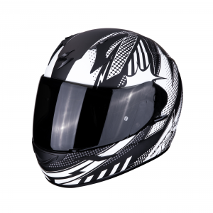 CASCO MOTO INTEGRALE SCORPION EXO-390 POP MATT BLACK WHITE