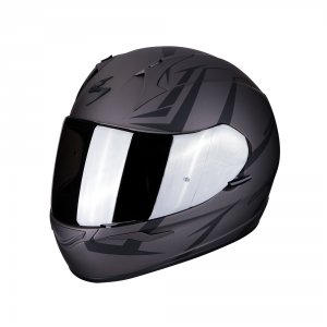 CASCO MOTO INTEGRALE SCORPION EXO-390 HAWK MATT DARK SILVER BLACK