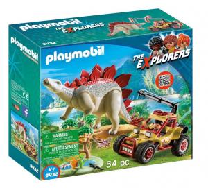 PLAYMOBIL VEICOLO DEGLI EXPLORERS E STEGOSAURO 9432 - PLAYMOBIL THE EXPLORERS