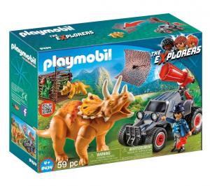 PLAYMOBIL FUORISTRADA CON RETE PER I DINOSAURI 9434 - PLAYMOBIL THE EXPLORERS