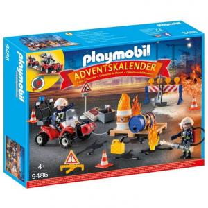 PLAYMOBIL CALENDARIO DELL'AVVENTO VIGILI DEL FUOCO 9486