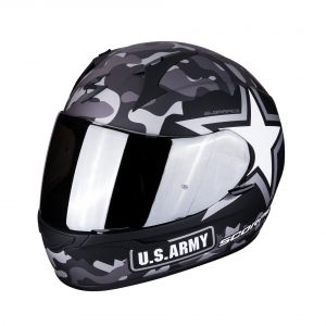 CASCO MOTO INTEGRALE SCORPION EXO-390 ARMY MATT BLACK SILVER