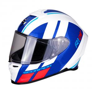 CASCO MOTO INTEGRALE SCORPION EXO-R1 AIR CORPUS BLUE WHITE RED