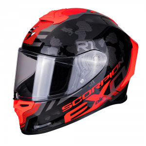 CASCO MOTO INTEGRALE SCORPION EXO-R1 AIR OGI BLACK RED