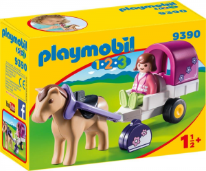 PLAYMOBIL CARROZZA CON CAVALLO 1.2.3 9390