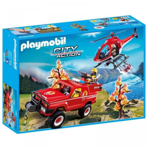 PLAYMOBIL SUPER SET POMPIERI FORESTALI 9518