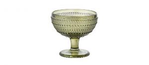 Coppa Gelato Verde in Vetro 29cl Set di 6 pezzi cm.10,5h diam.11,5