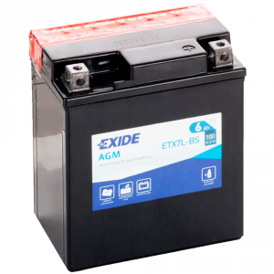 Batteria MOTO EXIDE 6Ah Dx - ETX7L-BS