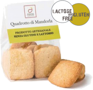 Quadrotto di mandorla mini portion confezione da 50gr