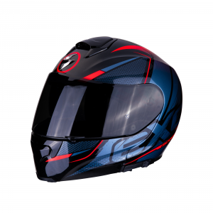 CASCO MOTO MODULARE SCORPION EXO-3000 AIR CREED BLACK RED