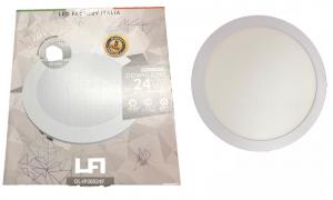 applique incosso led a soffitto 24w diametro 300 mm
