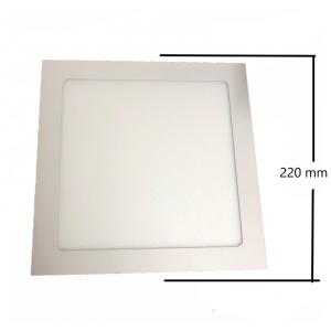 Applique incosso led quadrato 220x220 18w luce bianca 6000k