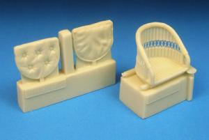 Sopwith Camel Wicker Seat w/Cushion
