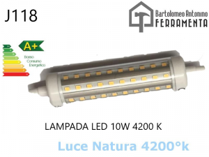 Lampada led J118 R7S 230V 10W 4200K LAMPADA PER FARO