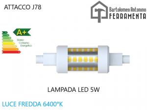 Lampada led J78 R7S 230V 5W 6400K LAMPADA PER FARO
