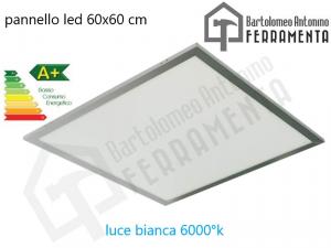 Pannello led 60x60 cm 40W 6000°K luce bianca plafoniera da incasso