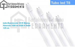 tubo led 120cm t8 g13 18w luce bianca