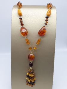Collana di Ambra del Baltico e oro, vendita on line | GIOIELLERIA BRUNI Imperia