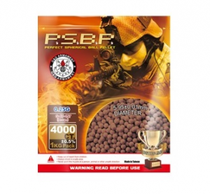 G&G 0.25g Perfect Brown BB 4000rds