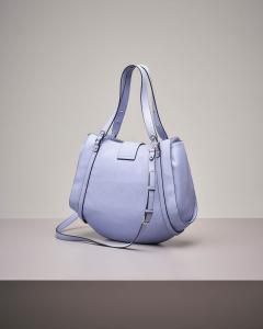 It bag color azzurro con decori gioiello