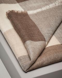 Sciarpa marrone in lana fantasia check