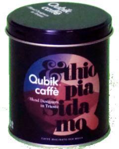 Qubik Monooriginali Etiopia Sidamo caffè lattina da 125 gr