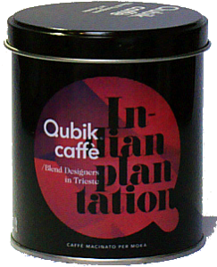 Qubik Monooriginali Indian Plantation caffè lattina da 125 gr