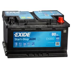 Batteria EXIDE 80Ah Dx - EK800