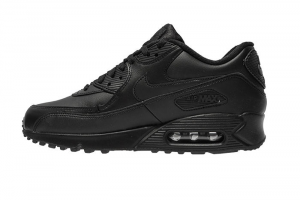 SNEAKERS NIKE AIR MAX 90 LEATHER (GS) 833412-001 BLACK/BLACK
