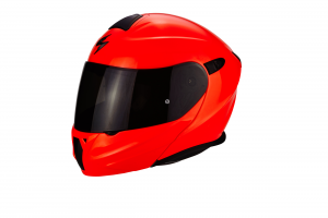 CASCO MOTO MODULARE SCORPION EXO-920 SOLID RED FLUO