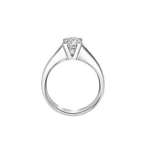 Anello Solitario in Oro Bianco con Diamante taglio Brillante certificato GIA