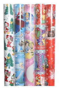KAEMINGK Pap Giftwrapping Disney 5Ass Colour: Assorted Size: 70X200Cm Carta 850
