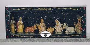 EUROMARCHI Set 8 Figure Cm 8,2 Tl Scatvetr Presepe - Personaggi E Animali Natale 294