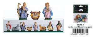 EUROMARCHI Set 8 Pezzi NativitaCm 4 Te Presepe - Personaggi E Animali Natale 166
