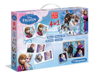 CLEMENTONI Edukit 4In1 Frozen Disney Cultura Generale Logica Gioco Didattico 472