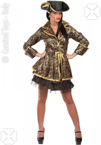 CARNIVAL TOYS Costume Piratessa Glamour T U S M In Busta Costumi Completo Adulto 687